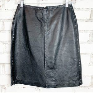 INC | Leather Mini Skirt | Size 4P